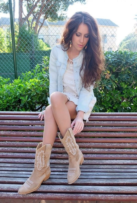 outfit botines cowboy